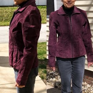 Wilsons Leather Purple Suede Jacket! EUC!